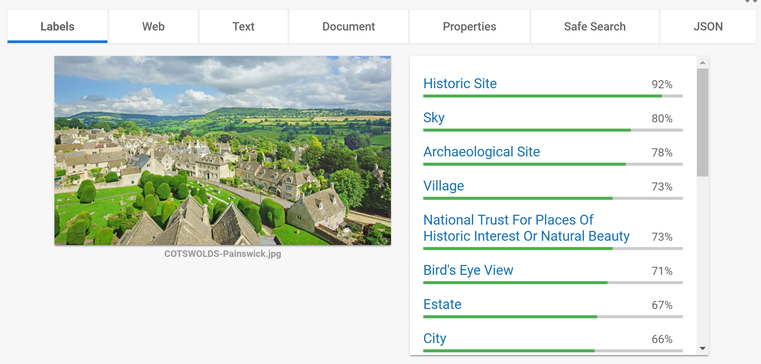 'Google Vision on the Cotswolds'